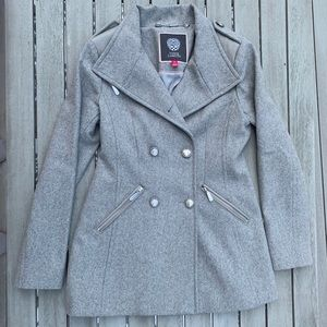 Vince Camuto Gray Peacoat